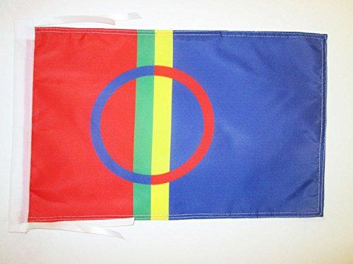 AZ FLAG Flagge SAMEN 45x30cm mit Kordel - Lappen SAMISCHE Fahne 30 x 45 cm - flaggen Top Qualität