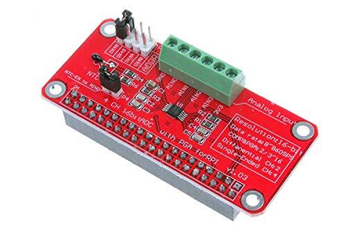 ZHITING Can 4 Bits 16 Bits avec PGA pour RPI Raspberry PI 16 Bits I2C ADS1115 Module ADC 4 canaux pour Raspberry Pi 3 2 Modèle B B +