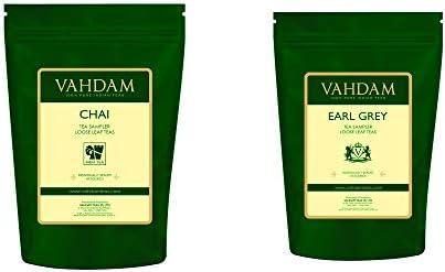 VAHDAM Earl Grey Tea Sampler 5 Teas Chai Tea Sampler 3 53oz 100 Natural Chai Tea blended with product image