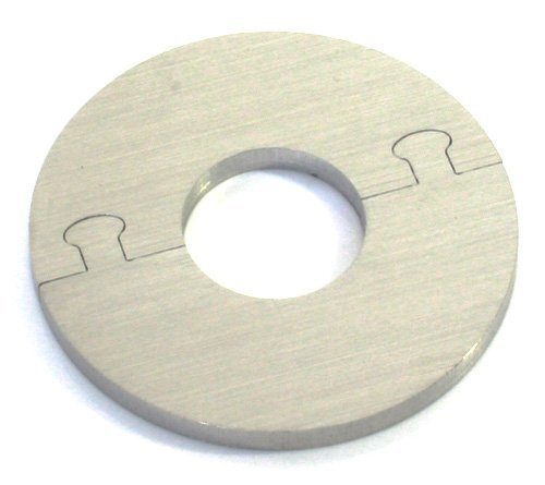 EXKLUSIVE EDELSTAHL rund Heizkörper Rosette - Einzelrosette für HEIZUNG Ø 12-28 mm (12 mm Rohrdurchmesser)