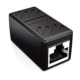 deleyCON 1x CAT6 Coupleur Connecteur de Câble Câbles de Réseau Câble Patch Câble Ethernet Adaptateur Modulaires Blindée…