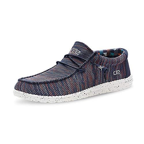 Dude Shoes Hombres Wally Sox Azul Naranja UK7 / EU41
