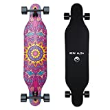 New Olym Longboard Skateboard, 44 Inch 8 Layer Canadian Maple Drop Through Longboards for Youths...