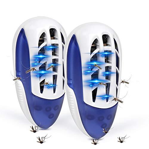 DEKINMAX Lampe Anti-Moustique Portable, Tueur D'insectes UV, Electrique Contre Moustiques, Mouches pour L'intérieur (2pack)