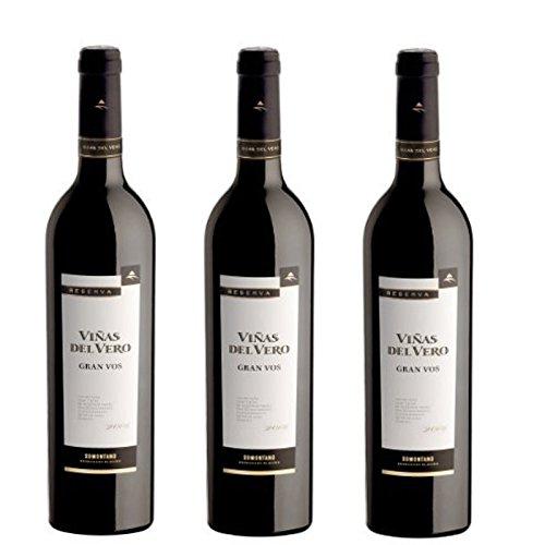 Viñas Del Vero Gran Vos Reserva - Vino D.O. Somontano - 3 Botellas de 750 ml - Total : 2250 ml