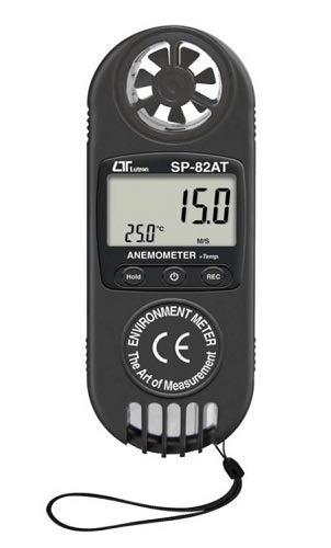 2-in-1 Windmessgerät Anemometer Luftstrom Temperatur Windmesser Windgeschwindigkeit Kite Surfen WM6