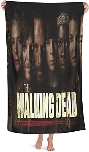 XBBAO - Toalla de playa The Walking Dead, Protagonist of the Horror TV Series, adecuada para el baño de vacaciones y baños familiares (caminar 5, 80 cm x 130 cm)