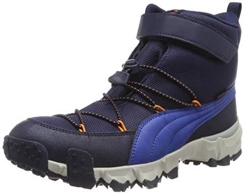 Puma Unisex-Kinder Maka PURETEX V Jr Sneaker, (Peacoat-Jaffa Orange 01), 38.5 EU