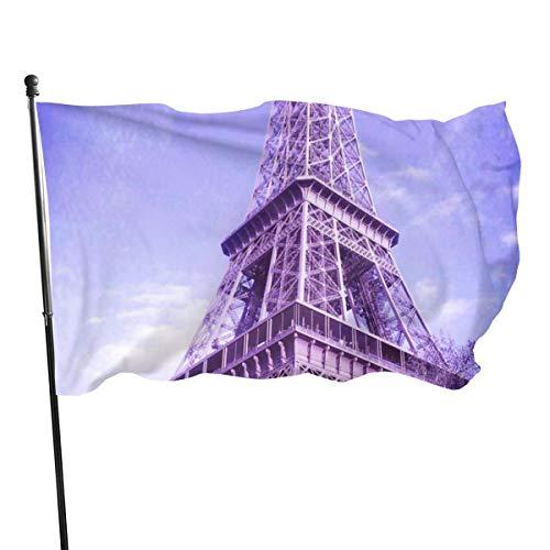 Bandera de la Guardia de Estados Unidos, bandera de bienvenida, torre de Eifell, París, Francia, patio, decoración de patio de vacaciones, patio, aniversario, 3 x 5 pies