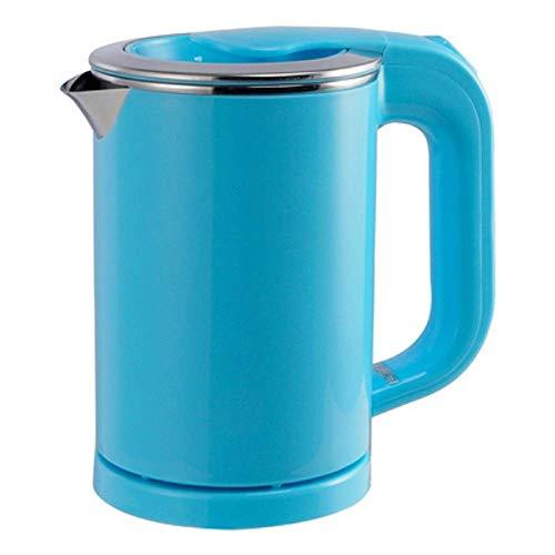 Bouilloire bouilloire pâtes chauffage tasse tasse en acier inoxydable bouilloire bouilloire voyages eau chaude chauffage pot électrique 110v220v bleu noir Xping (Color : Blue)