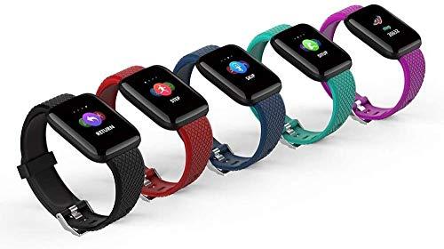 116plus Bluetooth Smart Bracelet Touch Pulsera inteligente de frecuencia cardíaca (color púrpura-cian