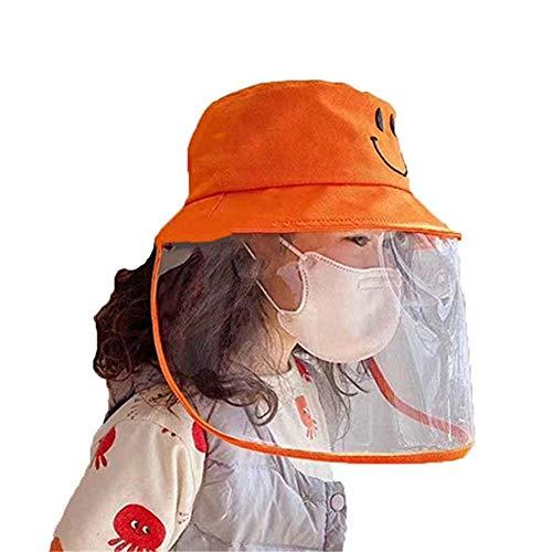 Miaouyo Kinder Visier Hut Anti Spitting Schutzhut Jungen Mädchen Fischerhut Vollgesichtsschutz Schutz Hut für 2-7 Jahre Kinder (3-13 Jahre Kinder, OneSize)
