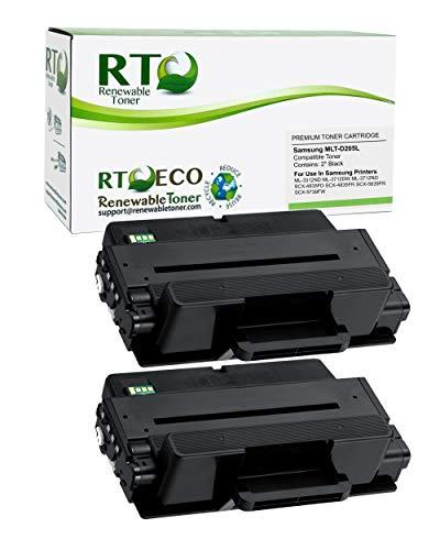 Renewable Toner Compatible Toner Cartridge Replacement for Samsung MLT-D205L D205L SCX-4833 4835 5637 5639 5737 5739 ML-3310 3312 3710 3712 (Black, 2-Pack)