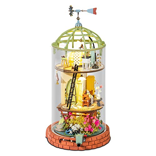 Rolifeドールハウス 木製 3Dパズル ミニチュア DIY 手作り オモチャ 知育玩具 大人 入園祝い 新年 ギフト 誕生日 クリスマス プレゼント 贈り物 (星降るロフト)
