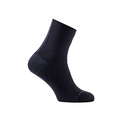 SealSkinz - Calcetines Road Ankle con Hydro Stop Socks - Agua Densidad Calcetines, Negro/Gris.