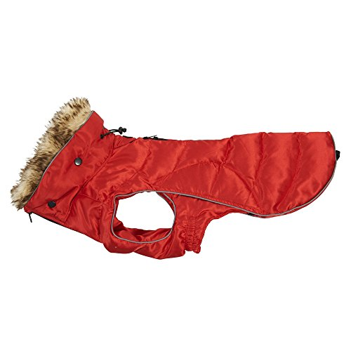 Kruuse Buster Stepp Active Hunde Mantel mit Kunstfell (Medium/Large) (Rot)