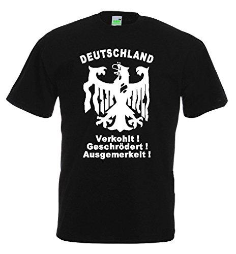 Pegida T-Shirt | verkohlt | schwarz | Größe XXL