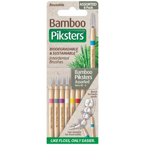 Piksters Bamboo Assorted 1 Pack of 8