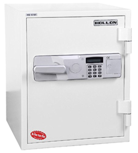 Hollon Safe HS-610E 2 Hour Fireproof Office Safe, 1.5 Cubic feet, White