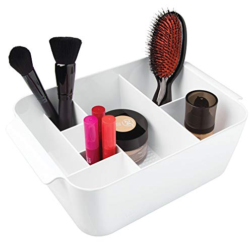Price comparison product image iDesign Clarity Divided Cosmetic Bin,  White