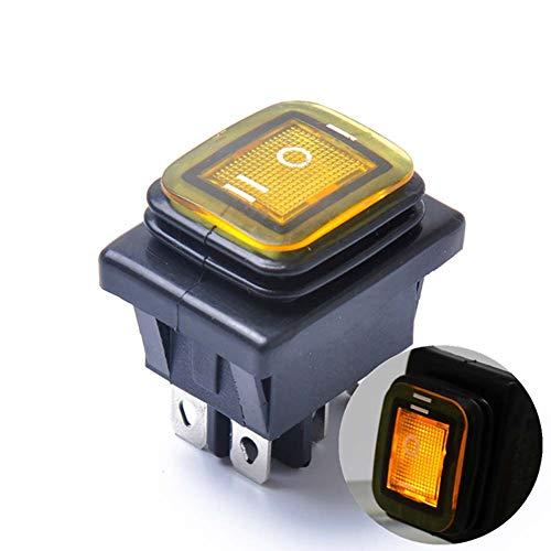 SJTJA La luz LED Rocker Interruptor de Palanca de Enclavamiento Interruptor Impermeable On-Off-On 6 Pin 12V Coche Barco Enclavamiento Interruptor a Prueba de Agua
