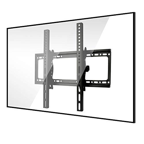 Soporte de TV para 26'' a 55'' Television de pantalla plana, Sendowtek VESA Máx 400x400mm Soporte Pared Brazo TV de pantalla plana para LED/LCD/PDP con Carga de 45 kg, Ángulo ajustable de -5° a +15°
