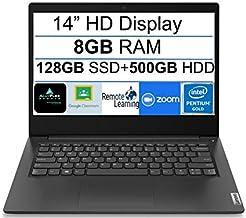 "$399 » Newest Lenovo Ideapad 3 14"" HD Display Premium Laptop, Intel Pentium Gold 6405U 2.4 GHz, 8GB DDR4 RAM, 128GB SSD+500GB HDD..."