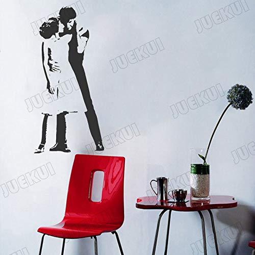 guijiumai Dirty Dancing Kreative Mode Kunst Design Entfernbare Wandaufkleber für Tanzsaal Vinyl Wandtattoos Wohnzimmer Murals73.5X154CM