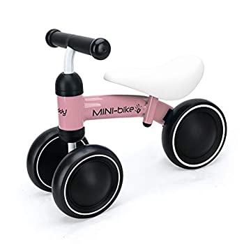 Baby Balance Bike Walker Toy Toddler Bicycle Tricycle,Best First Birthday Gift for Girl and boy in 1 to 2 Years Old,Ride on Toys for Kids,Newborn and Little Child s Riding Vehicle Pink