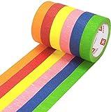 6 Cintas Carrocero de Colores Alto Rendimiento 25mm x 25m KESTKAS Para Pintura - Manualidades - Señalización - Etiquetado
