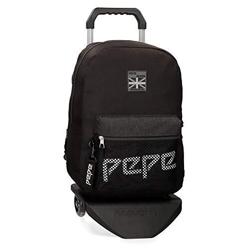 Mochila con Carro Pepe Jeans Ren, 44 cm, Negro