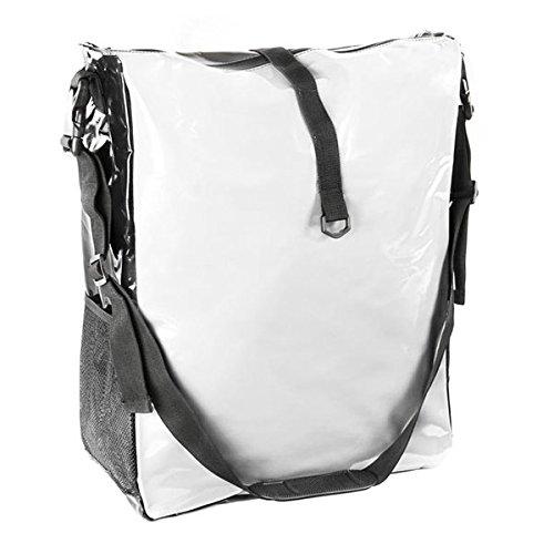 Filmer Fahrrad-Doppeltasche aus Tarpaulin, Weiss/Schwarz, 54 x 37 x 16 cm, 32 Liter, 46366