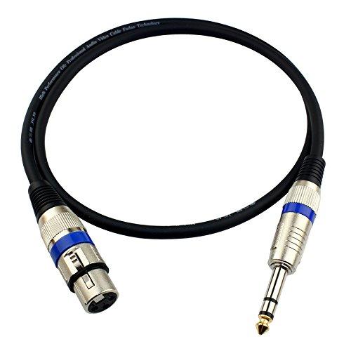 Audio Kabels en Adapter, Golden Triangle JSJ drie kern schakelaar naar Lennon bus 6.35 kaart boeren 6.5 geluidskaart mixer lijn, 1m, Goud