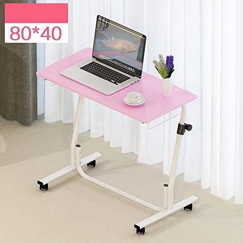 Heim-Beistelltische Einfacher Laptop-Schreibtisch Tisch Einfacher Desktop-Heimarbeitstisch Abnehmbarer Lift-Nachttisch, BOSS LV, Rosa