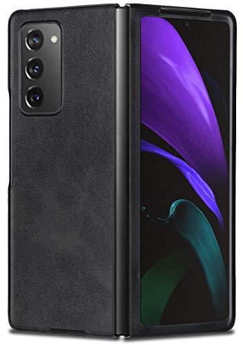 MOONCASE Galaxy Z Fold 2 5G Cover, Ultra Sottile Custodia in Pelle Protettiva Rigida Antiurto Caso per Samsung Galaxy Z Fold 2 5G 7.6' -Nero