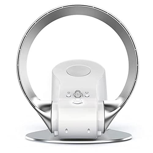 WWJJLL Ventilador sin aspas de Escritorio y de Pared con Control Remoto Potente Enfriador de Aire Ventilador de Torre silencioso Giratorio de 180 °,1