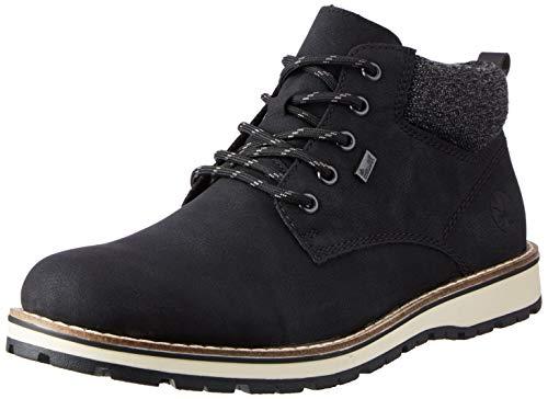 Rieker Herren 38419 Mode-Stiefel, schwarz, 44 EU