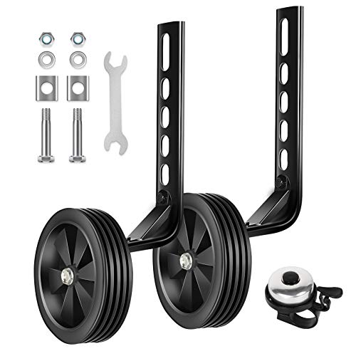 BNKIHDD Bicycle Training Wheels for Kids Stronger Version Replacement Adjustable