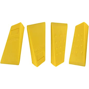 """Parts 4 Outdoor 4 Pack of 5.5"""" Tree Felling WEDGEUSA Made ABS Logging Bucking Falling Felling Wedge"""