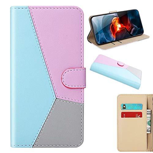 xinyunew Funda iPhone 6/6S Plus,Cuero Premium Flip Folio Carcasa Case para iPhone 6/6S Plus Funda (Azul)