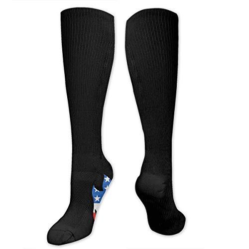 NA Spitfire Wheels Flaghead Fireball Skateboard Damen Schlauchstrümpfe, hochabgestufte Halbwaden-Socken, 50 cm