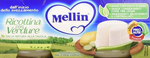 Mellin Omogeneizzato Ricottina con Verdure, 24 Vasetti da 80 gr