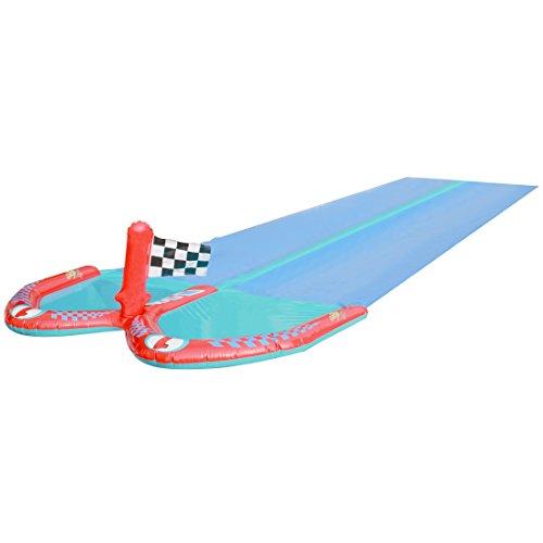 Ultrakidz Scivolo ad acqua doppio / Scivolo ad acqua per 2, lunghezza 610cm , Modelli/Colori Assortiti, 1 pezzo