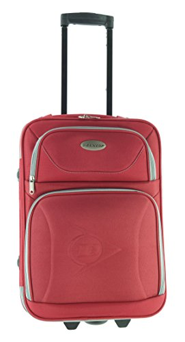 Dunlop Reisekoffer Trolley Stoff Koffer 53 cm M Rot Polyester FA. Bowatex