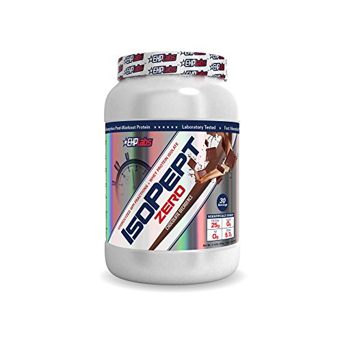 EHP Labs IsoPept Zero Chocolate Decadence (2lbs) Hydrolized WPI Fractions + Whey Protein Isolate, 25g of Protein Per Serving, 0 Sugar, 0 Fat, 5.7g of BCAAs - 30 Servings
