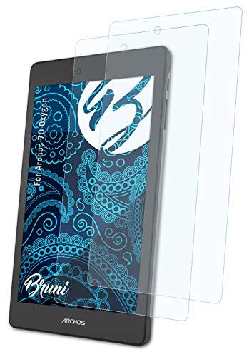 Bruni Schutzfolie kompatibel mit Archos 70 Oxygen Folie, glasklare Bildschirmschutzfolie (2X)