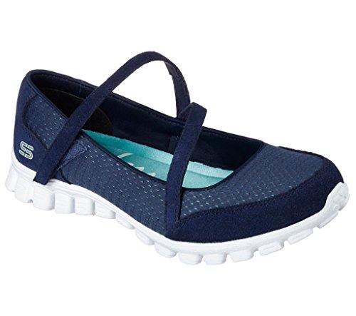 Skechers Ez Flex 2 - A-Game Damen Sportschuhe, Blau - Marineblau / Schwarz - Größe: 37.5 EU
