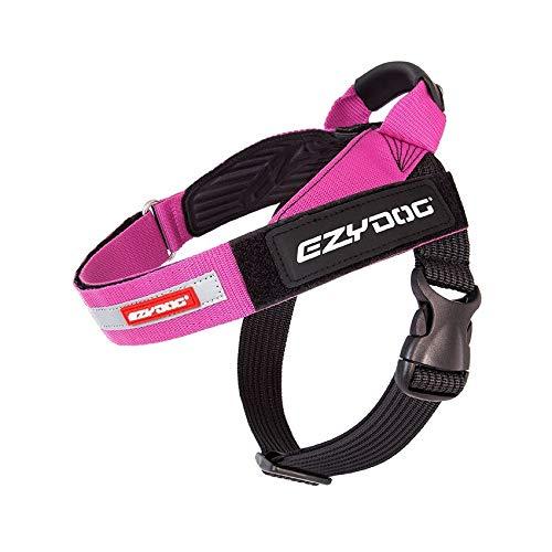 EzyDog Express Hundegeschirr - Norwegergeschirr für Kleine, Mittelgroße und Große Hunde, reflektierendes, Verstellbares, Gepolstertes Hundegeschirr. Perfekt zum Joggen und Radfahren (XS,Rosa)