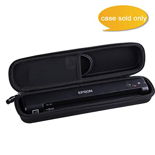 Aproca Hard Carry Travel Case Fit Epson Workforce ES-50 / ES-55R / ES-60W / ES-65WR / DS-30 / DS-70 / DS-80W Document Scanner