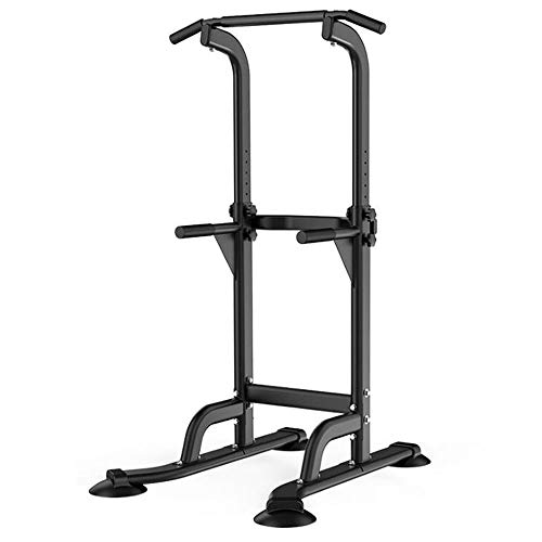 Pull Up & Dip Station Dip Stand Power Tower Adjustable Height Multi-Functional Home Strength Training Fitness Workout Station